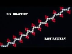 In this tutorial you can learn how to make an easy beaded bracelet for any occasion with colored round beads and crystal beads of your choice Diy Bracelets Easy, Beaded Bracelets, Diamond Bracelets, Pearl Necklaces, Beaded Jewelry Patterns, Bracelet Patterns, Easy Beading Tutorials, Diamond Cuts, Beads