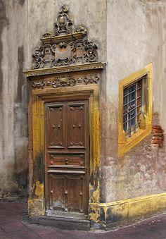 Old door in Strasbourg