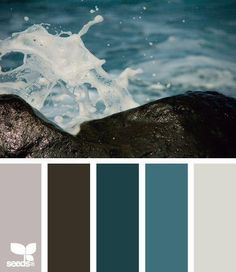 LOVE these colors!!! blue and grey