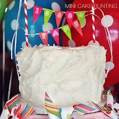 mini cake bunting banner tutorial and free printable alphabet pages