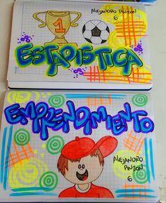 Resultado de imagen para portadas de cuadernos para niños Graph Paper Art, Pokemon, School Notebooks, Up Halloween, Bullet Journal Ideas Pages, My Notebook, Letters And Numbers, Diy And Crafts, Scrapbook
