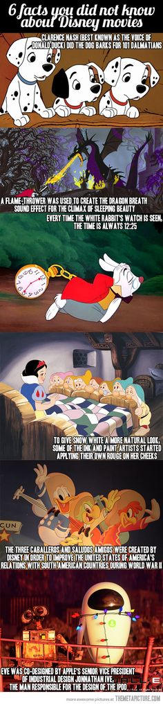 Some Disney movies facts…