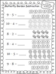 let 39 s practice subtraction 1 to 10 school subtraction kindergarten math worksheets. Black Bedroom Furniture Sets. Home Design Ideas