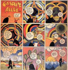 Panels from Gasoline Alley comic strip, distributed by Tribune Media, United States, by Frank King. Art Spiegelman, Newspaper Cartoons, Comic Layout, King Photo, Comic Book Panels, Comic Pictures, Classic Comics, Vintage Comics, Psychedelic Art
