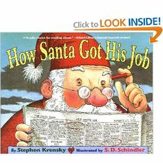 """How Santa Got His Job"" by Stephen Krensky is a great Christmas book for #kindergarten and elementary age kids."