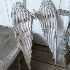 Metal angel wings wall hanging French Nordic by AnitaSperoDesign