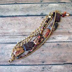 Birdseye Rhyolite Multi-Strand Bracelet