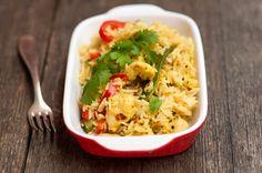 Kananpojan riisi-kasvispaistos