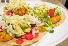 Jenny Steffens Hobick: Shrimp Tacos | Avocado Black Bean Salad | Red Pepper Margaritas | Friday!