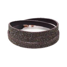 She.Rise Triple Wrap Bracelet, Chocolate Dorado. Triple chocolate leather wrap with metallic bronzed crystals andcopper magnetic closure.Italian Leather, Swarovski Crystals and Copper Magnets. Handmade in USA. $72