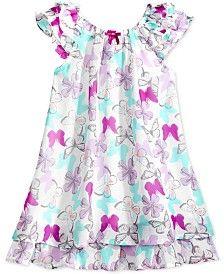 Blueberi Boulevard Butterfly-Print Ruffled Dress, Toddler & Little Girls (2T-6X)