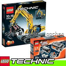 LEGO TECHNIC 42006 & 8293 Raupenbagger mit Power Tuning Set + GRATIS Duracell