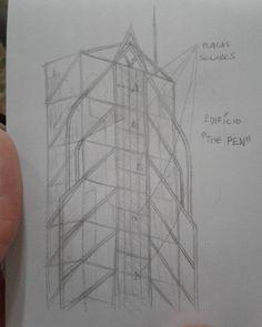 Pensando quadrinhos e... sustentabilidade? #sketch #esboço #study #estudo #concept #conceito #building #predio #placasolar #solarpanels #design #thinking #pensando #criando #creating #ideias #rough #rascunho #economy #ecofriendly #hq #quadrinhos #comics #projetosfuturos #architecture #engineering #drawing
