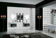 bathroom ideas black and white