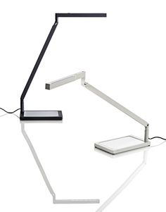 Specifically designed to provide correct lighting when used with computer monitors, the new BAP with LED source guarantees the best colour temperature with a lower energy consumption. The slim and elegant head integrates a blue polycarbonate filter. Extremely essential in design, the lamp features special movements to keep the source of light parallel to the table surface, thus keeping reflections under control and avoiding light interference with the monitor.