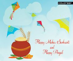 ColorBar wishes you a joyful and cheerful Makar Sankranti & Pongal. Tag your loved ones and share your wishes with them. #MakarSankranti #Pongal #Joy #Happiness