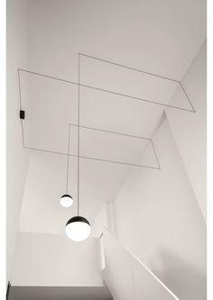"""designfunktion - FLOS Pendelleuchte """"String Light """" Kugelkopf"""