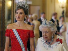 Au Banquet D'Etat Donné Par Elizabeth II Pour Felipe VI Et Letizia D'Espagne 1