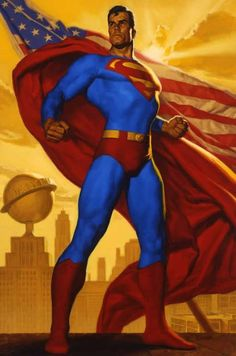 "Superman Limited Edition Fine Art Prints:""Superman: Truth, Justice and the American Way"" by Glen Orbik Superman Comic, Superman Stuff, Supergirl Superman, Clark Kent, Justice League, Comic Books Art, Comic Art, Marvel Dc, Marvel Comics"