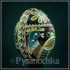 Real Ukrainian Pysanky Chicken Pysanka Hand Made HQ from Roman Easter Egg | eBay  Look at that side band.