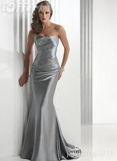 It says silver gray wedding prom dress...so its for prom?  Because I like it as a wedding dress!  Is that strange...gray wedding dress?  Eh.