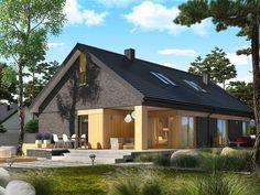 DOM.PL™ - Projekt domu AC Daniel IV G2 CE - DOM AF9-57 - gotowy koszt budowy Village House Design, Village Houses, House Construction Plan, Home Fashion, Exterior Design, Interior Architecture, Teak, House Plans, Cabin