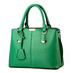 XIN BARLEY Women s PU Leather Fashion Handbag Crossbody Bag Top-Handle Shoulder  Bags Green any f8f5af32e3286