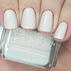 """Essie: Cashmere Matte Collection - """"Wrap Me Up"""" <3 is a bone colored creme with a satin matte finish. Beautiful and elegant. Nice formula too. 2 coats."""