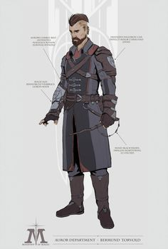 Auror by Michael (Mick) Mowat Fantasy Character Design, Character Concept, Character Art, Concept Art, Character Ideas, Dungeons And Dragons Characters, Dnd Characters, Fantasy Characters, Fantasy Inspiration