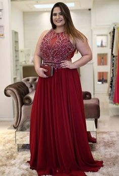 Formal Plus Size Prom Dresses_Plus Size Dresses_dressesss Pretty Prom Dresses, A Line Prom Dresses, Evening Dresses Plus Size, Plus Size Dresses, Casual Dresses, Fashion Dresses, Formal Dresses, Vestidos Plus Size, Mode Plus