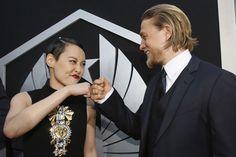 Charlie Hunnam et Rinko Kikuchi -- teamwork <3 pacific rim