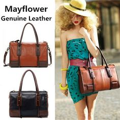 New 2014 vintage Knight genuine leather women messenger bags famous brand real leather handbags shoulder bags, Free Shipping $39.00