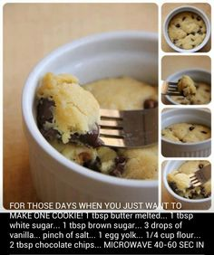 For those days when you want to make just one cookie:)