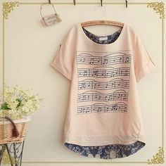 Buy 'Fairyland – Musical Notes Print Blouse' with Free International Shipping at YesStyle.com. Browse and shop for thousands of Asian fashion items from China and more!