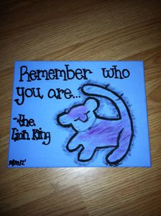 The Lion King Quote 8x10 Canvas (MADE TO ORDER). $12.00, via Etsy.