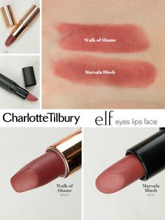 Lipstick dupes 827747606486118938 - Charlotte Tilbury Dupe – Walk of Shame Source by ewismelvin Pillow Talk Lipstick, Lipstick Art, Mac Lipstick Dupes, Lipstick Names, Lipstick Jungle, Eyeshadow Dupes, Bright Lipstick, Bold Lips, Lipstick Swatches
