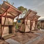 Butterfly Houses...... made of bamboo..... Soe Ker Tie House / TYIN Tegnestue | ArchDaily