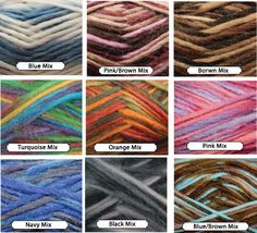 4 skeins yarn. Choose your color from mixed colors and by JeAdore