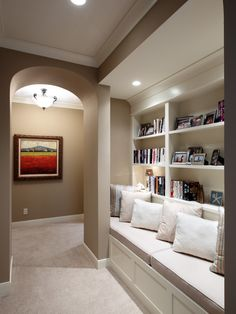 Have a larger than usual hallway or pass through? Make a reading nook with a seating area.
