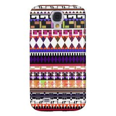 Cute Modern Tribal Samsung Galaxy S4 Cover  #samsunggalaxy #galaxys4 #s4 #galaxys4case #galaxys4cover #smartphone #smartphonecover #aztec #tribal #boho #girly