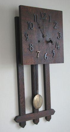 Arts and Crafts Pendulum Wall Clock