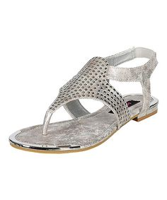 Take a look at the Silver Greece Sandal on #zulily today!