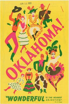 Mail order form for tickets to the 1951 revival of Oklahoma! From New York Public Library Digital Collections.