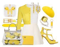 """Lemonade - 270316"" by vixen-vixen on Polyvore featuring Dolce&Gabbana, Pierre Balmain, Alexander Wang, Valentino, Prada, Simply Vera, Pomellato, Mademoiselle Slassi, Salvatore Ferragamo and yellow"
