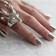 a cool ring and manicured nails are so fly. explains my extensive statement ring and nail polish collections.