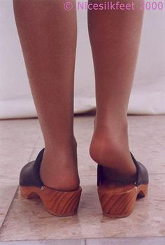 Clogs (1998) | Clogs Love | Flickr Hot Heels, Sexy Heels, Rubber Clogs, Swedish Clogs, Wooden Clogs, Clog Sandals, Feet Soles, Slip On Shoes, Birkenstock