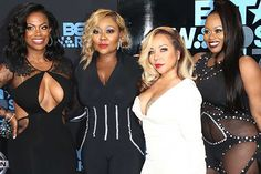 """Tameka """"Tiny"""" Harris and the Xscap3 young ladies got together on Feb. 16 to watch previous part Kandi Burruss in 'Chicago' On Broadway. Are things OK between them?"""