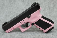 Glock 19 Pink Madness Custom Edition 9mm Pistol a lady should have a pink gun right?