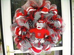 NC State Wreath, so cute!!!!