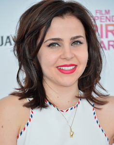 Mae Whitman Lookbook: Mae Whitman wearing Evening Dress (1 of 12). Mae Whitman opted for a figure-flattering white dress with adorable piping for her Independent Spirit Awards look.